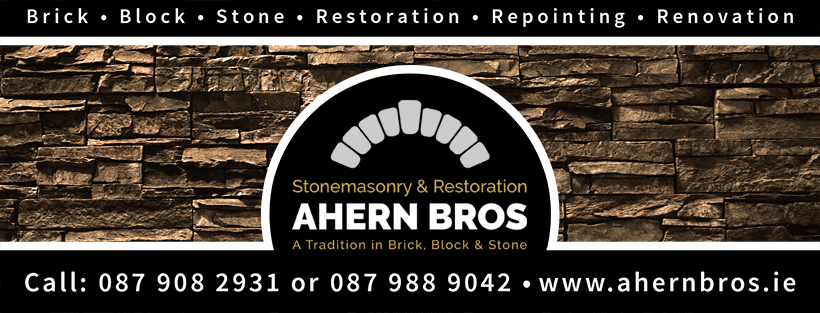 Ahern Bros. A Tradition in Brick, Block & Stone · Stonemasonry & Restoration · Call: 087 908 2931